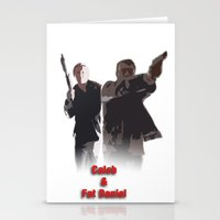 caleb troy Stationery Cards featuring Caleb and Fat Daniel by Body in the Window Seat