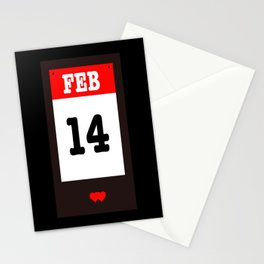 VALENTINES DAY 14 FEB - A SUBTLE REMINDER - A DATE TO BE REMEMBERED! Stationery Cards
