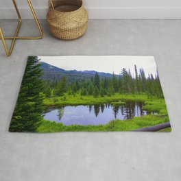 Colorado Forest Pond by Reay of Light Rug