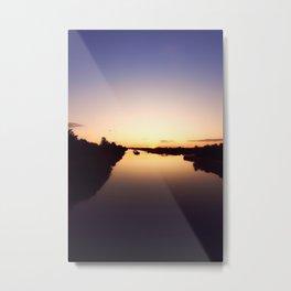 Waterway at sunset Metal Print