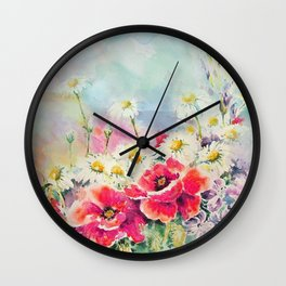 Poppies 07 Wall Clock