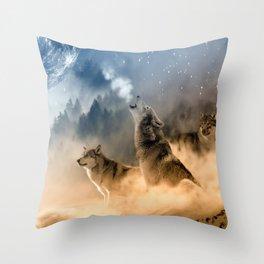 Moonrise Howl Throw Pillow