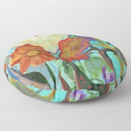 Mixed Flowers Floor Pillow