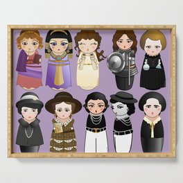Kokeshis Women in the History Serving Tray