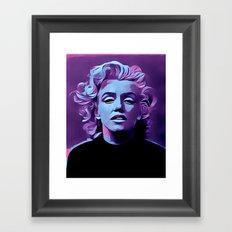 Purple Marilyn Framed Art Print