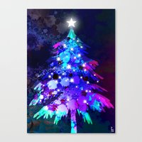 christmas tree Canvas Prints featuring Christmas Tree by tscreative