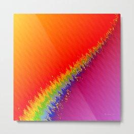 Rainbow Divide Metal Print