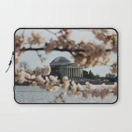 Jefferson Memorial Through the Cherry Blossoms Laptop Sleeve