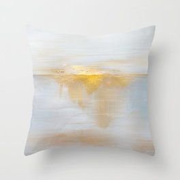Gold Sunset Throw Pillow