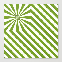 Stripes explosion - Green Canvas Print