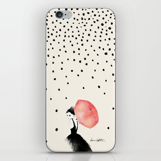 Polka Rain iPhone & iPod Skin
