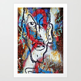 Cleft Chin Art Print