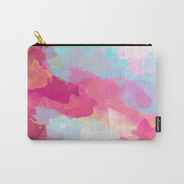 Colorful Abstract - pink and blue pattern Carry-All Pouch