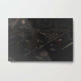 Music Mixer Metal Print