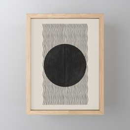 Woodblock Paper Art Framed Mini Art Print