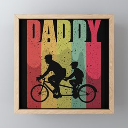 Daddy Bike Tour Framed Mini Art Print