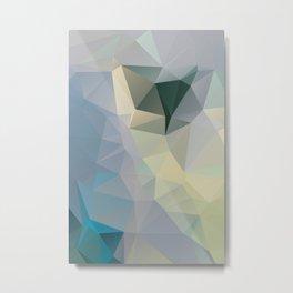 Mint / Poster, Art Prints, Deco, Scandinavian Images, Geometric, Pastel Poster, Mountains, Minimalis Metal Print