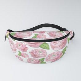 Pink Ranunculus Flower Fanny Pack
