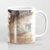 italy Mugs featuring Cortona, Italy by zawij