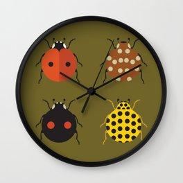 Ladybug Quartet Wall Clock