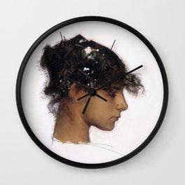 John Singer Sargent - Rosina Ferrara, Head of a Capri Girl Wall Clock