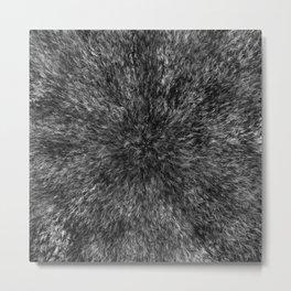 Radial Fur Texture  - Grayscale Metal Print