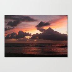 puerto vallarta sunset Canvas Print
