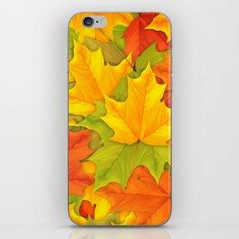 Autumn leaves #9 iPhone Skin