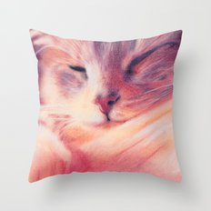 After lunchtime Throw Pillow