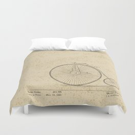 Penny Farthing Patent Duvet Cover