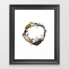 Bird Wreath Framed Art Print