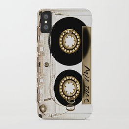 Transparant mix tape Retro Cassette iPhone Case