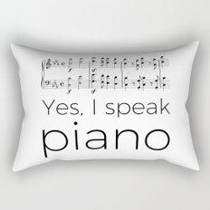 I speak piano Rectangular Pillow