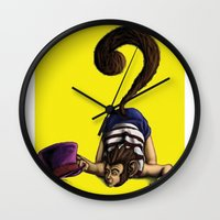 clueless Wall Clocks featuring Clueless by BIHLUSTRATION