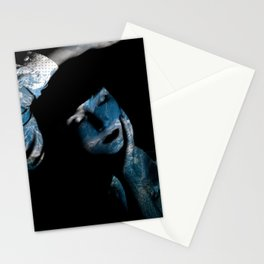 Blue mountain portrait Stationery Cards