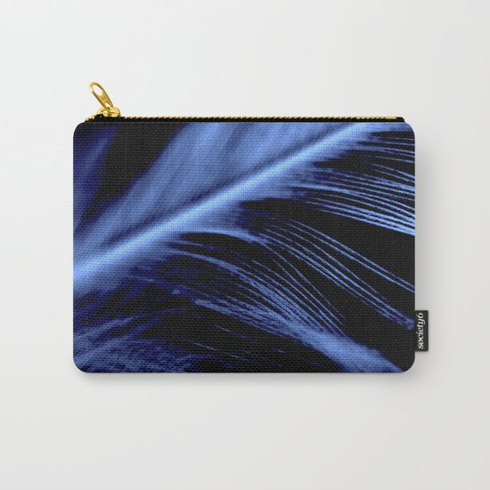 Blue Feather close up Carry-All Pouch
