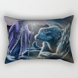 The sorceress and the dragon Rectangular Pillow