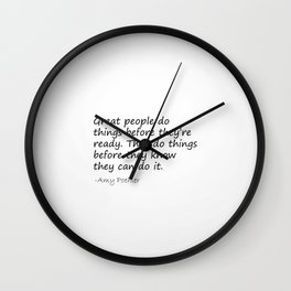 Amy Poehler Quote - Great People Wall Clock
