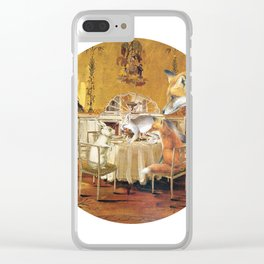 Tiny as a soul, there comes the rabbit Clear iPhone Case