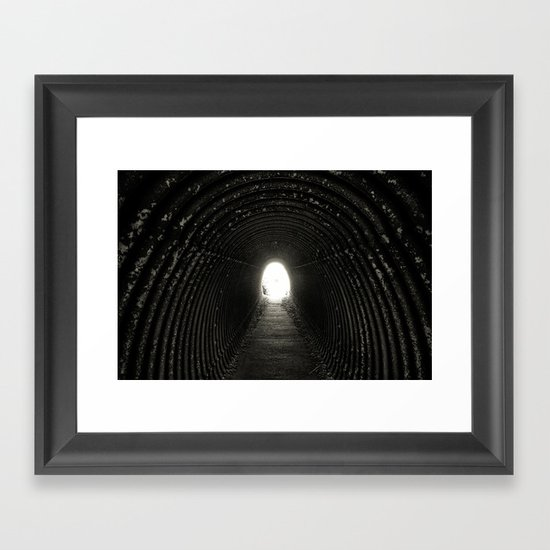 Tunnel Framed Art Print