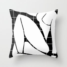 After Matisse nude in black and white Throw Pillow