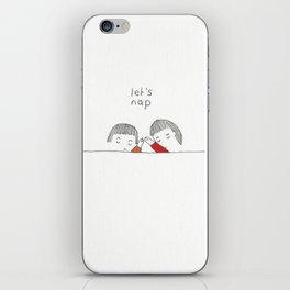 let's nap iPhone Skin