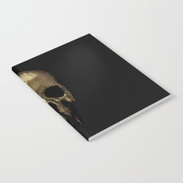 Gold Dripping Skull Notebook