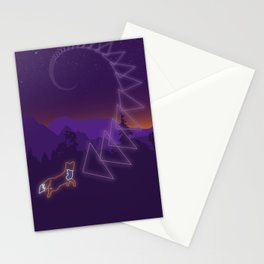 Neon Fox Stationery Cards