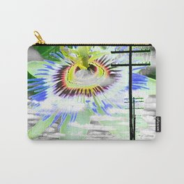 High Voltage on passionflower Carry-All Pouch