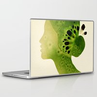 kiwi Laptop & iPad Skins featuring Kiwi by Ekaterina Koroleva