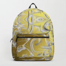 silver Digital pattern with circles and fractals artfully colored design for house and fashion Backpack