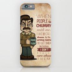 Ron Swanson 6 iPhone 6 Slim Case