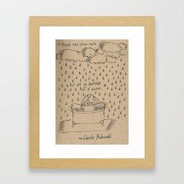 Bathtubs and Bukowski Framed Art Print
