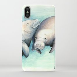 Manatee Love iPhone Case